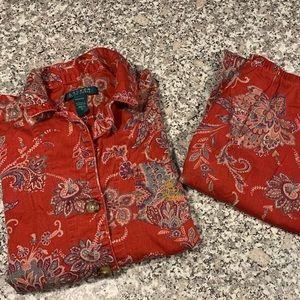 Lauren Ralph Lauren pajamas size small GUC